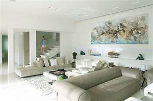 Living, Area, With, Perfect, Painting, Horse, Wall