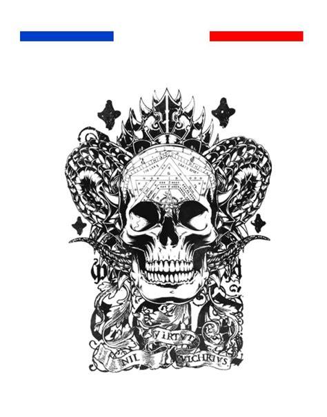 tatouage tete de mort tatouage t 234 te de mort totem mon petit tatouage temporaire