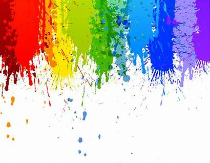 Paint Colorful Runny Splash Background Transparent Drip