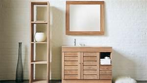 wooden bathroom furniture cabinets eo furniture With armoire miroir salle de bain bois