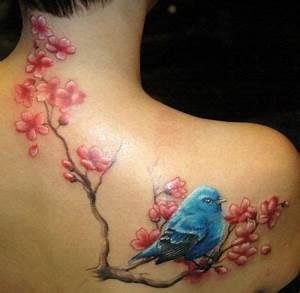 Tatouage Oiseau Homme : tattoo oiseau fleur recherche google tattoo tatouage ~ Melissatoandfro.com Idées de Décoration
