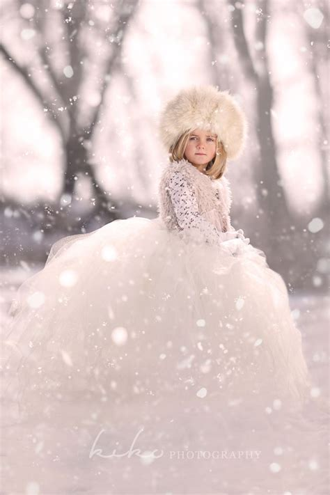 ice queen flower girl   winter wedding head toe