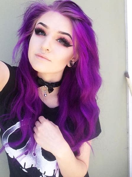 Pretty Purple Hair Best Hair Styles Color And Cuts