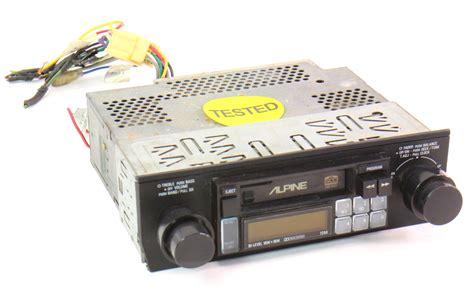cassette car radio alpine 7256 school vintage deck player car radio