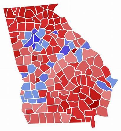 Election Georgia County Governor Results Svg Gubernatorial