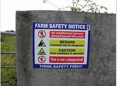Farm Safety Notice, Ahaderry © Kenneth Allen Geograph