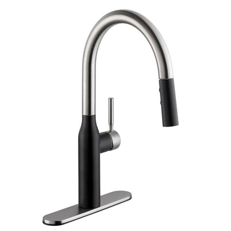 black faucets kitchen black pull faucets kitchen faucets the home depot