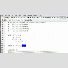 Solve A System Of Linear Equations In Matlab Using Matrix