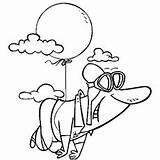 Coloring Pages Balloon Printable Float Balloons Getcolorings Printabl Sheets sketch template