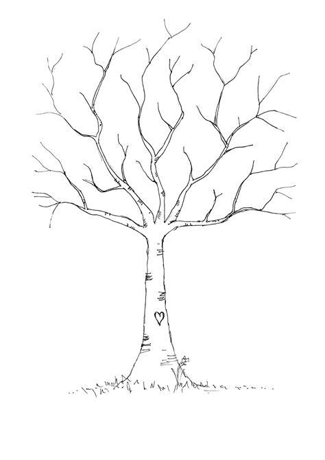 printable tree template wedding thumbprint tree