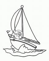 Coloring Yacht Sailing Transportation Printables Wuppsy Catamaran Sailboat Fire Template Truck Yachts sketch template