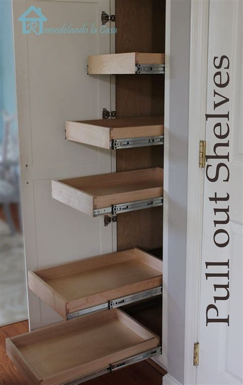 How To Make A Pantry Out Of A Bookcase by Kitchen Organization Pull Out Shelves In Pantry In 2019