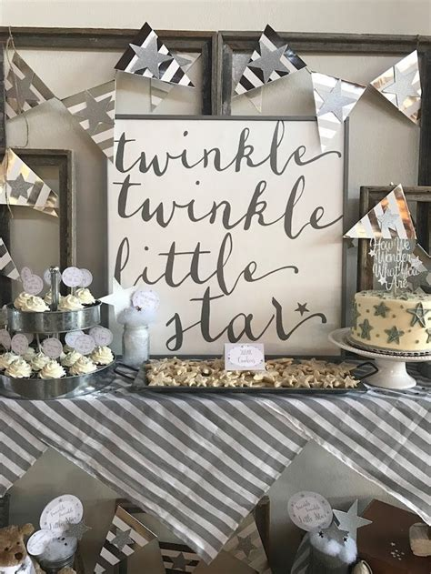 rustic baby shower theme rustic twinkle star gender reveal baby shower on kara s party ideas karaspartyideas com 15