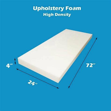 High Density Upholstery Foam by 4 Quot X 24 Quot X 72 Quot High Density Seat Foam Cushion Replacement
