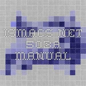 Ismacs Net 503a Manual