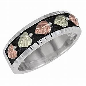 black hills gold on antiqued sterling silver men39s wedding With black hills silver wedding rings