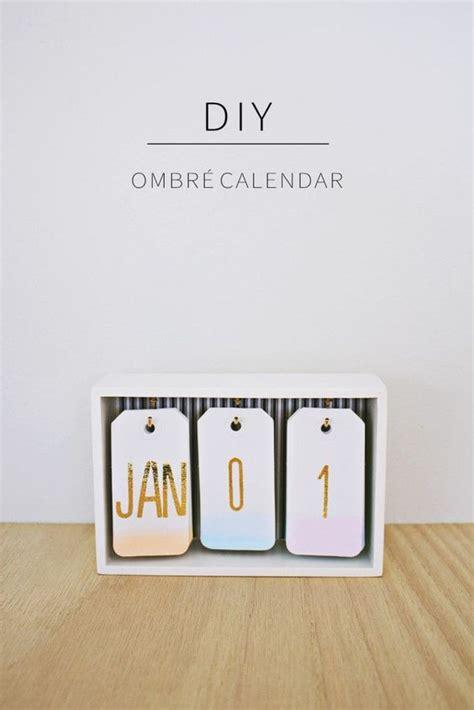 calendrier de bureau diy fabriquez un calendrier ombré pour votre bureau