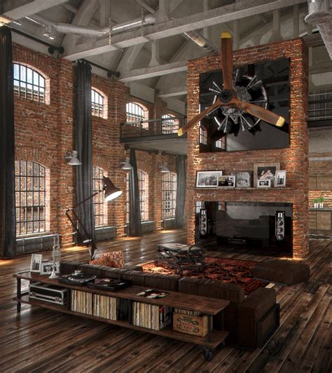 Loft Industrial Style by 40 Lofts That Push Boundaries