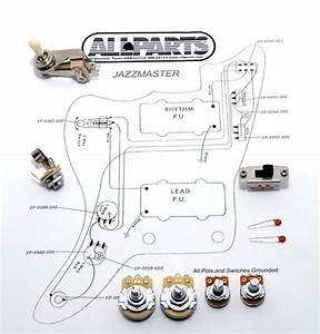 New Wirning Kit Jazzmaster Pots Toggle Switch Jack Diagram