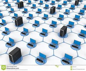 Computer Network stock image. Image of internet, laptop ...