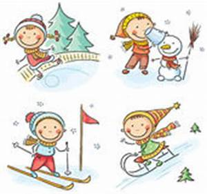 Snow clipart winter activity - Pencil and in color snow ...