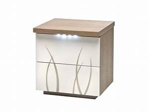 table chevet blanc laque With table de chevet moderne