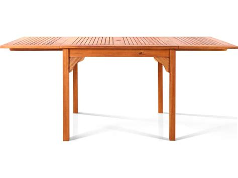 vifah eucalyptus wood 70 9 x 35 4 rectangular table v1394
