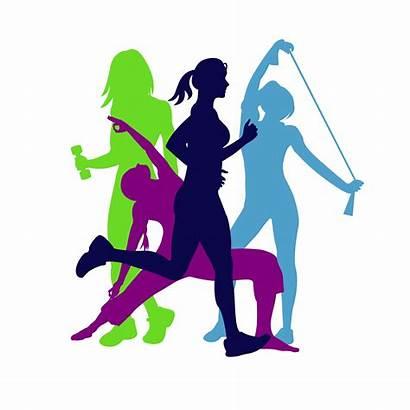 Fitness Silhouette Woman Clip Clipart Gym Emblem