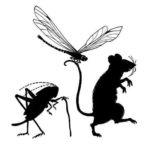 vintage clip art cute critter silhouettes  graphics