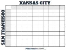 football squares printable square grid template