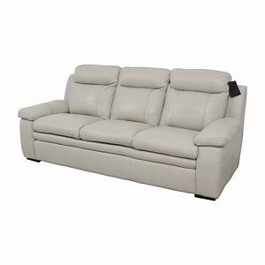 67 off macy39s macy39s zane white leather sofa sofas for Macy s sectional sofa leather