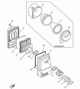 Yamahagenuineparts Com  Yamaha Mz360 Air Box