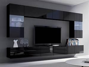 Moderne Wohnzimmer Schwarz Weiss : moderne wohnwand schrankwand wohnzimmer corona simson i schwarz hochglanz dachmax dachfenster ~ Markanthonyermac.com Haus und Dekorationen