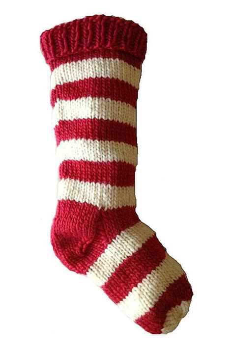 hand knit christmas stocking hand knit red