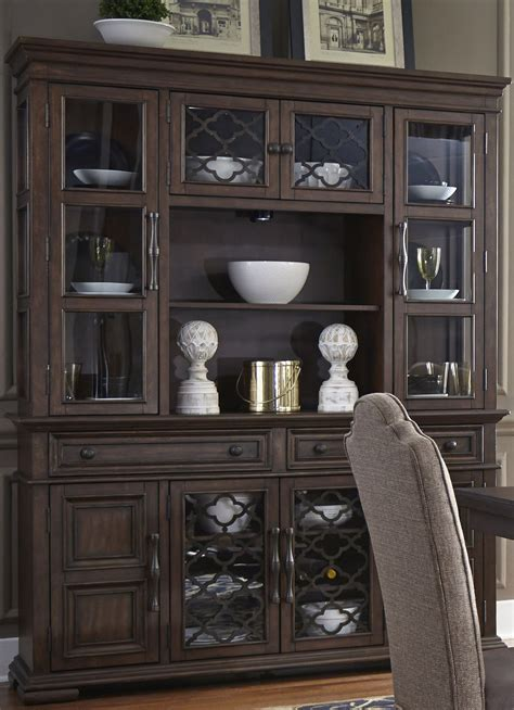 Hutch Sideboard Buffet by Lucca Brown Buffet With Hutch From Liberty Coleman Furniture
