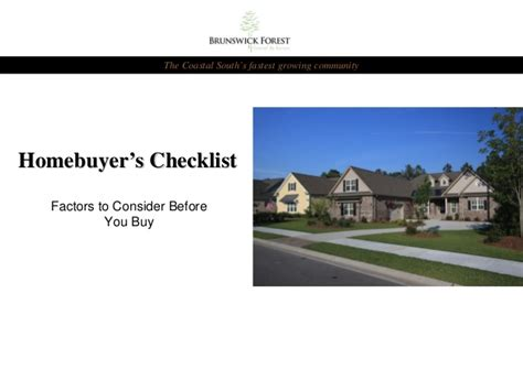 Homebuyer's Checklist Factors To Consider Before Buying A