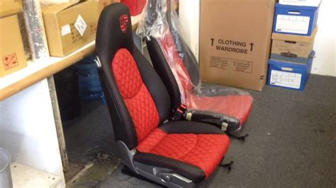 porsche sinister custom racing seats black and