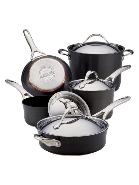 anolon pans gilt cookware pan form copper pots sets
