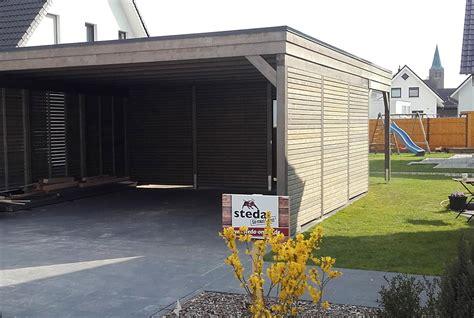 Carport Mit Rhombusleisten  Die Holzfassade Ist