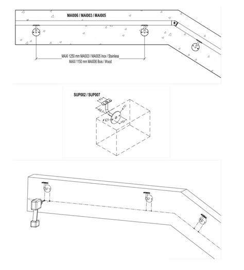 vente de re d escalier en bois et inox pour l int 233 rieur ou l ext 233 rieur deck linea