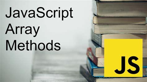 15 Must-Know JavaScript Array Methods
