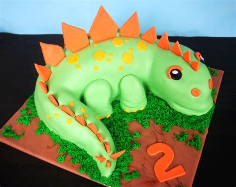 butter hearts sugar dinosaur birthday cake