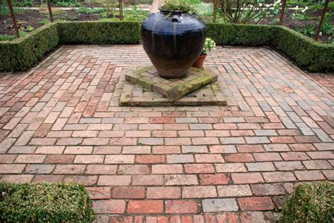 brick paving at sissinghurst like the reclaimed brick i