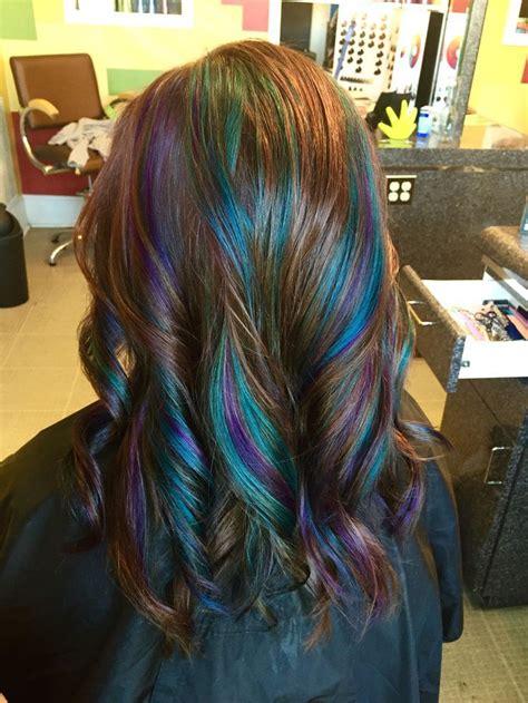 The Best Teal Highlights Ideas On Pinterest Teal Hair Highlights Will Brown Hair Dye Go