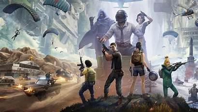 Pubg Squad 4k Parachute Mobile Games Wallpapers