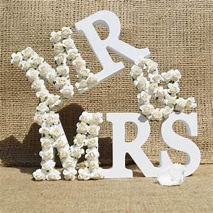 mr and mrs letters sign white wood wedding gift mr mrs With mr and mrs wooden letters for weddings