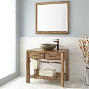 Distressed Bathroom Vanity 36 by 36 Quot Verlyn Vessel Sink Vanity Distressed Bathroom