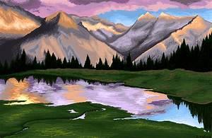 Mountain Landscape Pixel Art by owlmaddie on DeviantArt