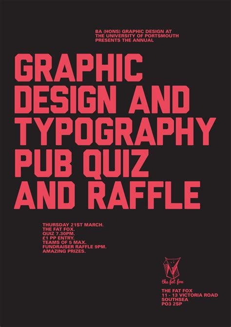 graphic design typography pub quiz strong island portsmouth southsea s no 1 cultural