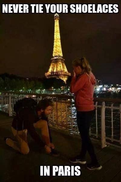 Paris Meme - tying shoelace in paris funny pictures quotes memes jokes